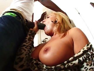 Gorgeous blonde milf gets hard fucked by 26cm black guy