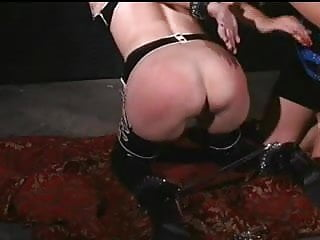 Luscious Latex Mistree plays with her subs (Part 3)