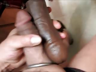 Wifey fucking my hole with her big black cock Pt. 1