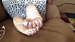 Mature ebony feet 6