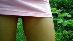 Very short dress, very hot, panties under the dress