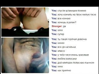 Videochat #48 Horny hairy girl and my dick