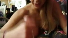 Stude shoving cock in her mouth