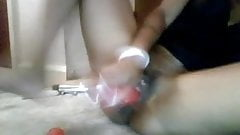 ebony soaking and squirting 25