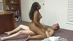 Cuckold Film Black Girl Fucking with White Bull