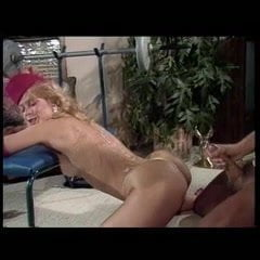 Blow job with feet