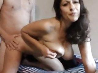 Milf Checks on Boy in Bed