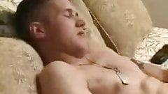 Horny marine cadet showing off