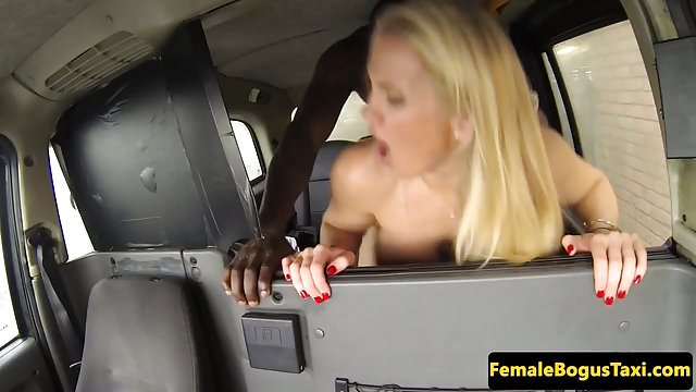 Preview 1 of Busty british cabbie pounded by black dick