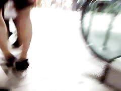 nylon legs public