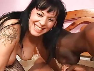 MMF Bisex - Interracial strapon threesome