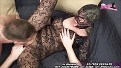 German mom mother housewife with big tits in nylons private