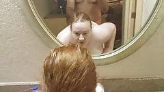 Bbw interracial fuck in bathroom