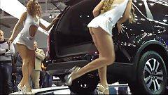 Car-show upskirts of dancing girls
