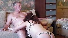 Gorgeous smashed wifes pussy - hard fuck !