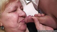 Grandma threesome at work place