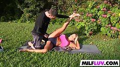 Tegan James is a tasty yoga MILF