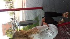 flashing near nice girl cumshot