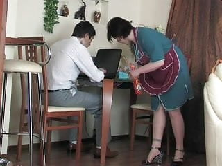 Can not orgasm without vibrator - The maid can not live without dick
