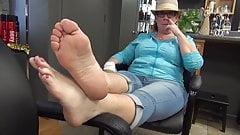 Mature granny feet