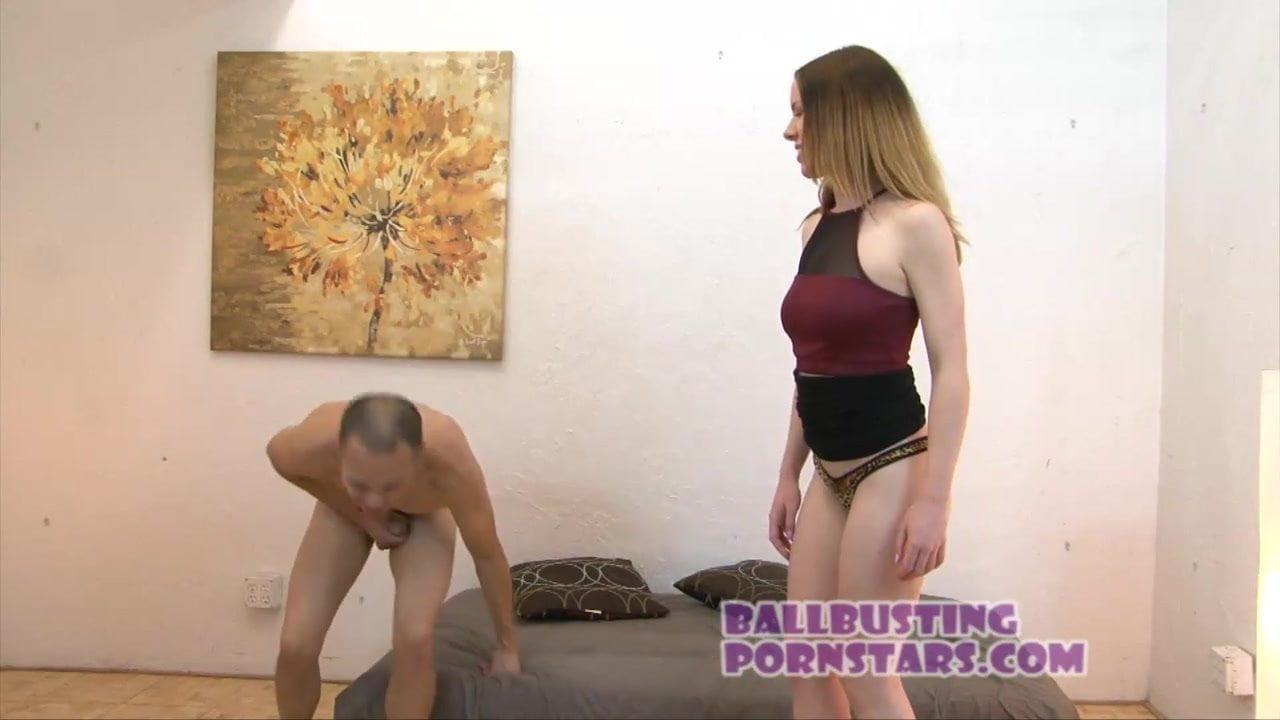 Ball Busting Porn Stories redhead stripper ballbusting with kierra wilde