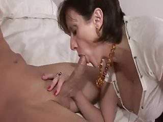 British MILF Enjoys A Young Big Cock