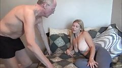 Busty Horny Babe Loves Her 70Yo Owner of an Apartment