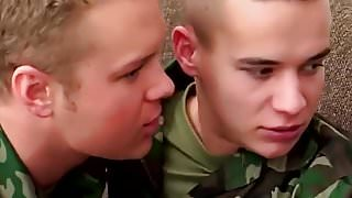 Hot hunk soldiers deepthroat bj and hard anal orgy