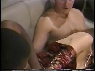 Sexy cock sucking bitch gets DP fucked on couch the creamed