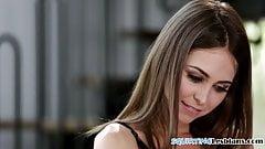 Lesbian beauties scissoring sensually