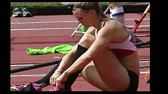 Strong Legs Candid Sporty Fit Woman