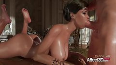 Black hair princess giving blowjob's Thumb