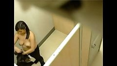 Hidden cam: trying on bras