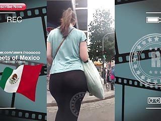 NICE TEEN BOOTY WALK IN STREET (VPL-Red Pants) 2018