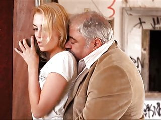 Cute go to Gloryhole and have Anal Bareback sex with old man