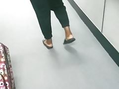 Thick lady while boarding my flight.