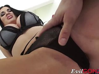 Jasmine Jae getting her pussy and asshole fucked by big cock