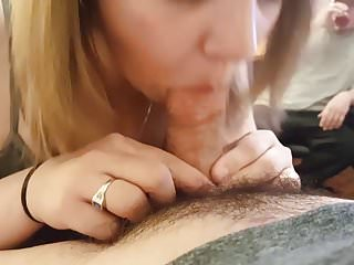 Hot Wife Young Cock Blowjob BBW Blowing Younger Guy