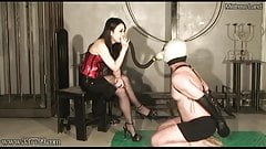 Dominant Mistress Saran Smoking and CBT