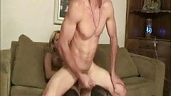 Latino Guy Cums on Shemale Big Ass