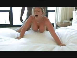Busty Blonde BBC Interracial
