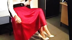 Satin Skirt Is Toyed With