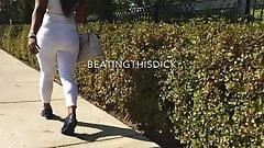 SEE THUR WHITE LEGGING MILF