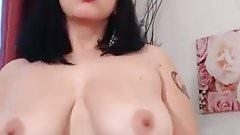 Lusty busty brunette