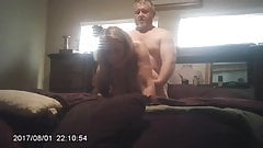 Fucked from behind with swinging tits