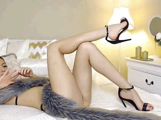 Hot Cam Girl with Amazing feet and High Heels Part 2