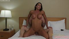 Brunette Female Bodybuilder Gets Fucked