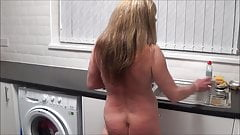 Full Back Knicker's Naked in the Kitchen's Thumb