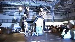 crazy fetish scandal on public show stage