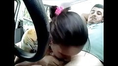Nice hooker sucking and fucking in the car - hidden cam 1